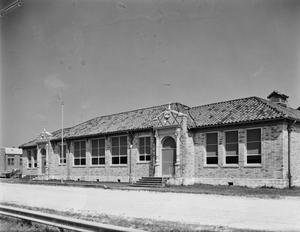 Primary view of object titled '[Santa Fe High School, (South facade)]'.