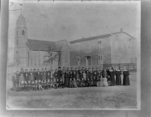 Primary view of object titled '[Saint Mary's Catholic School and Church]'.