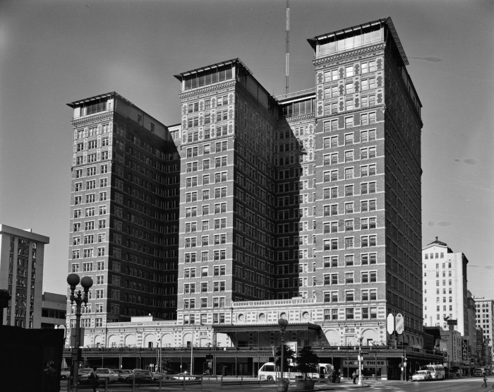 First side of: [Rice Hotel], a photograph available in the The Portal to Texas History