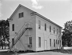 Primary view of object titled '[Cedar Bayou Masonic Lodge, (East oblique)]'.