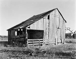 Primary view of object titled '[Log Cabin, (Northwest oblique)]'.