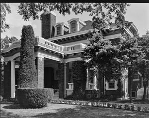 [Landergin House, (Northwest oblique of porte cochere)]