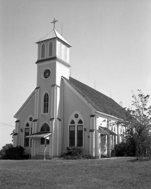 Primary view of object titled '[Saint Mary's Catholic Church, (Southwest oblique)]'.