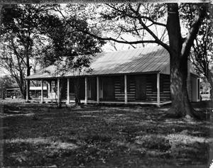 Primary view of object titled '[McCroskey Log Cabin, (Southeast oblique)]'.