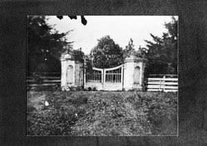 Primary view of object titled '[Durazno Plantation, (Historic view of gates)]'.