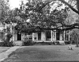 Primary view of object titled '[H. Lee Johnson House, (Southwest facade)]'.