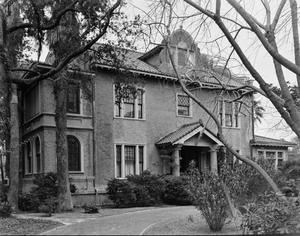 Primary view of object titled '[Daniel Webster Kempner House, (South elevation)]'.
