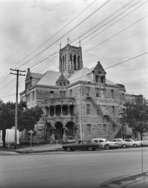 Primary view of object titled '[Comal County Courthouse, (Southwest oblique)]'.