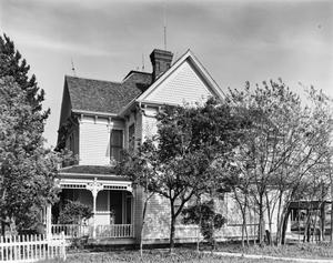 Primary view of object titled '[Ammie Wilson House, (Northeast oblique)]'.
