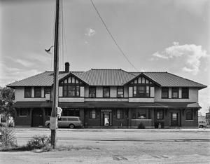 Primary view of object titled '[Rock Island Depot, (Front elevation)]'.