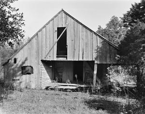 Primary view of object titled '[Gruenewald Log House, (South elevation)]'.