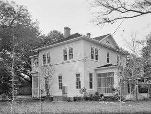 Primary view of object titled '[Myers House, (Northeast oblique)]'.