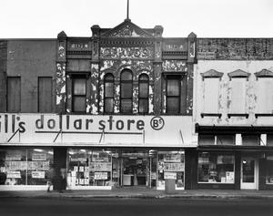 Primary view of object titled '[Graves Drug Store Building, (North elevation)]'.