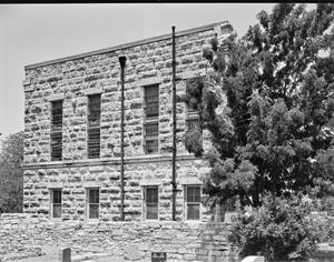 Primary view of object titled '[Old Gillespie County Jail House, (East oblique)]'.