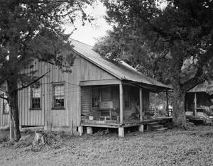 Primary view of object titled '[Frank Noska Farm Sleeping House, (Southwest oblique)]'.