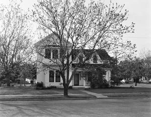 Primary view of object titled '[Eckhardt-Adkinson House, (East elevation)]'.