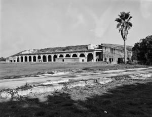 Primary view of object titled '[Fort Travis, (North facade)]'.