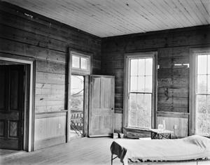 Primary view of object titled '[Stafford Ranch House, (Southwest room upstair)]'.