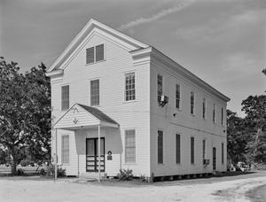 Primary view of object titled '[Cedar Bayou Masonic Lodge, (Southwest oblique)]'.