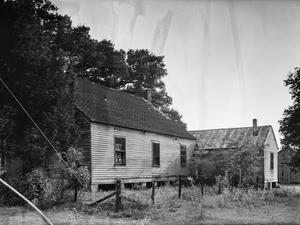 Primary view of object titled '[Schulenburg Farm House, (Northeast oblique)]'.