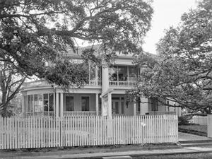 Primary view of object titled '[Peareson House, (East facade)]'.