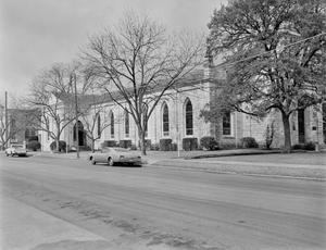 Primary view of object titled '[First Protestant Church, (East facade, nb addition at rear)]'.