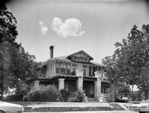 Primary view of object titled '[J.P. Atkins Wallace Home, (East facade)]'.