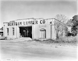 Primary view of object titled '[Bertram Lumber Company Warehouse, (South oblique)]'.