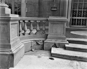 Primary view of object titled '[Aldredge House, (Front porch balustrade detail)]'.