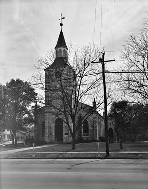 Primary view of object titled '[First Protestant Evangelical and Reformed Church, (East facade)]'.