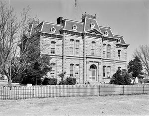 Primary view of object titled '[Concho County Courthouse, (Southwest oblique)]'.