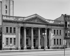 Primary view of object titled '[South Texas Bank Building, (North elevation)]'.