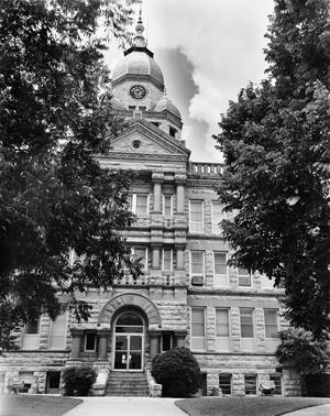 Primary view of object titled '[Denton County Courthouse, (East elevation)]'.