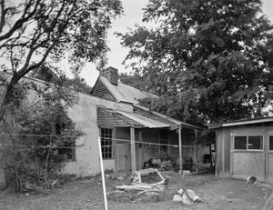 Primary view of object titled '[Willrich House, (South oblique (showing kitchen wing))]'.