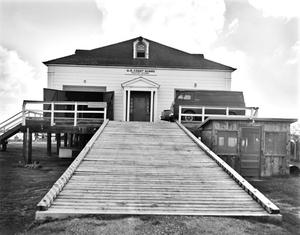 Primary view of object titled '[U.S. Coastguard Station, (Northeast elevation-boathouse)]'.