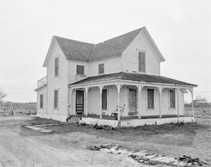Primary view of object titled '[Wehring House-Cottonwood School House, (Southwest oblique)]'.