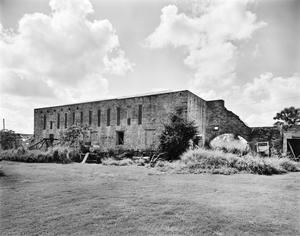 Primary view of object titled '[Brulay Plantation, (Northwest oblique, Building #8:mill)]'.