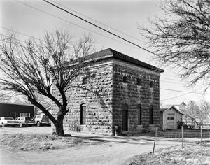 Primary view of object titled '[Old Callahan County Jail, (Southeast oblique)]'.