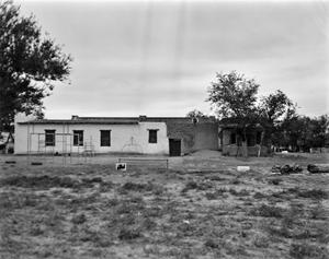 Primary view of object titled '[Mission Socorro School, (View 2)]'.