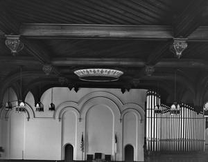 Primary view of object titled '[First Presbyterian Church, (Interior)]'.