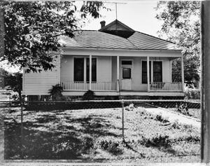 Primary view of object titled '[Garland-Johnson-Bradley House, (North elevation)]'.