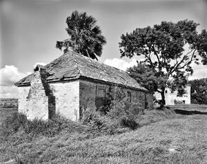 Primary view of object titled '[Brulay Plantation, (Northeast oblique, Building #5, Chimney construction)]'.