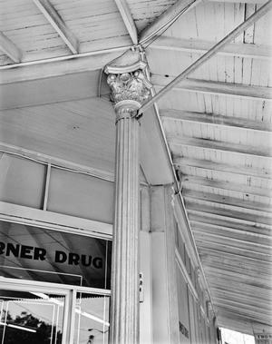 Primary view of object titled '[Corner Drugstore, (Column detail)]'.