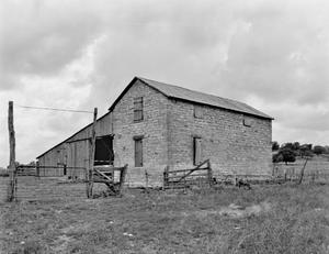 Primary view of object titled '[Borcher-Crouch House, (Northeast oblique-barn)]'.