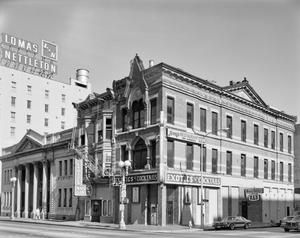 Primary view of object titled '[South Texas Bank and B.A. Shepherd Building]'.