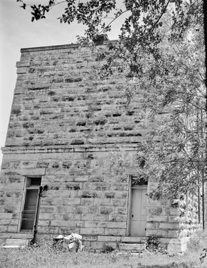 Primary view of object titled '[Old Gillespie County Jail House, (South elevation)]'.
