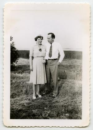 Primary view of object titled '[Photograph of a Civilian Couple]'.