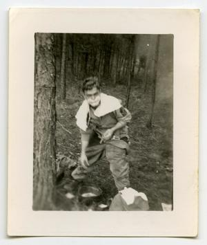 Primary view of object titled '[A Soldier Shaving His Face]'.