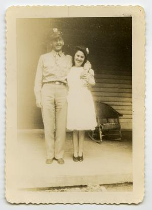 Primary view of object titled '[Photograph of a Soldier and a Lady]'.