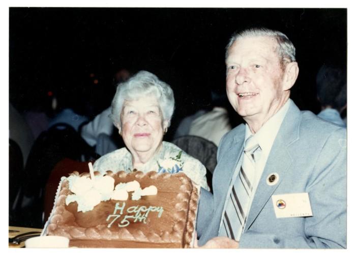 Photograph Of Harry Wainwright With Birthday Cake